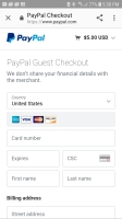image of PayPal guest checkout