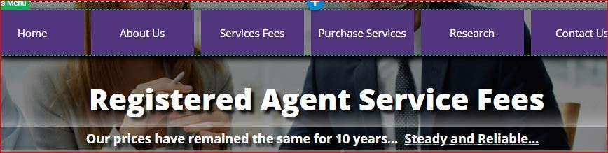picture of Illinois Registered Agent Webpage